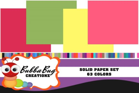 Solids Paper Set Graphic Patterns By BUBBABUG