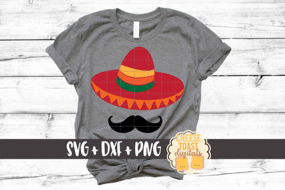 Download Free Sombrero With Mustache Cinco De Mayo Svg Graphic By for Cricut Explore, Silhouette and other cutting machines.