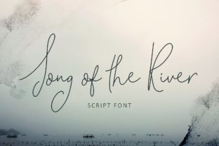 Song of the River Script & Handwritten Font By Creativeqube Design