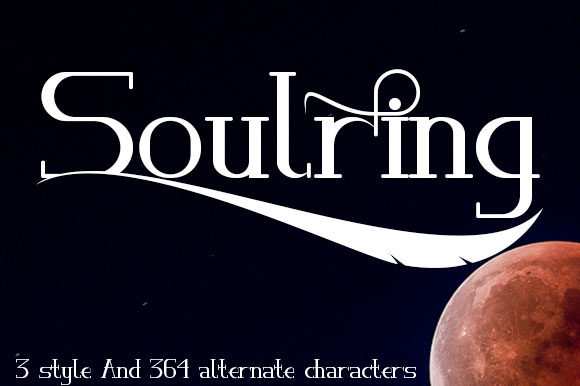 Print on Demand: Soulring Serif Font By Black Lotus