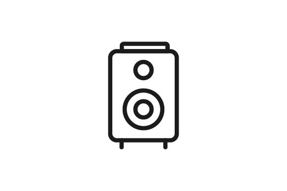 Download Free Sound System Icon Graphic By Kanggraphic Creative Fabrica for Cricut Explore, Silhouette and other cutting machines.