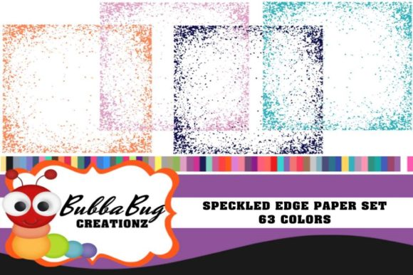 Speckled Edge Paper Set Graphic Patterns By BUBBABUG