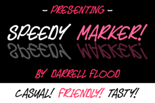 Speedy Marker Font By Dadiomouse