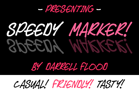 Print on Demand: Speedy Marker Script & Handwritten Font By Dadiomouse