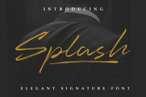 Print on Demand: Splash Script & Handwritten Font By Lettersiro Co.