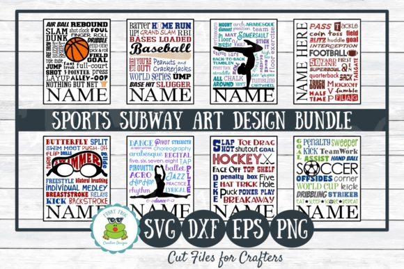 Sports Subway Art Design Bundle Graphic Crafts By funkyfrogcreativedesigns