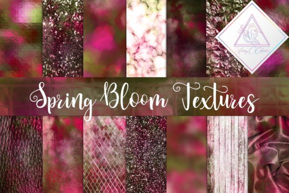 Print on Demand: Spring Bloom Textures Graphic Textures By fantasycliparts