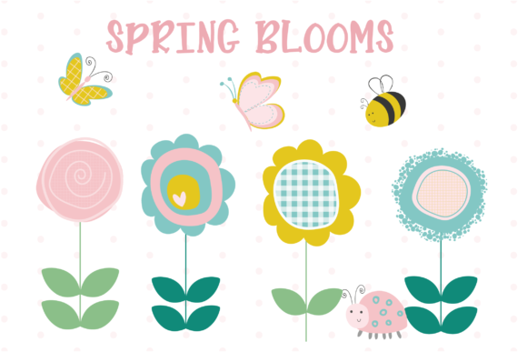 Print on Demand: Spring Blooms Graphic Illustrations By poppymoondesign