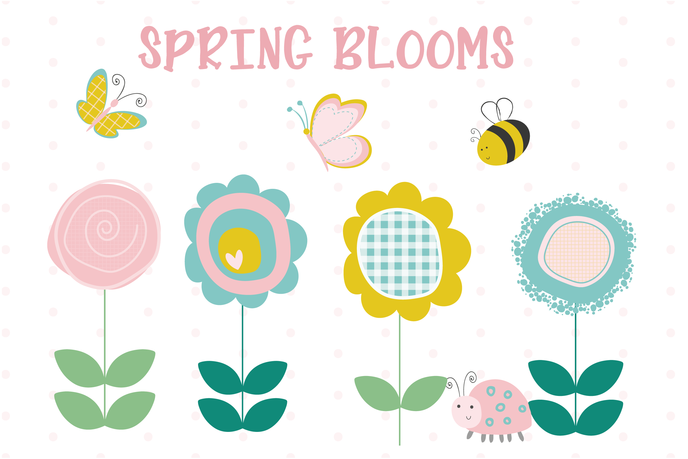 Download Free Spring Blooms Graphic By Poppymoondesign Creative Fabrica for Cricut Explore, Silhouette and other cutting machines.