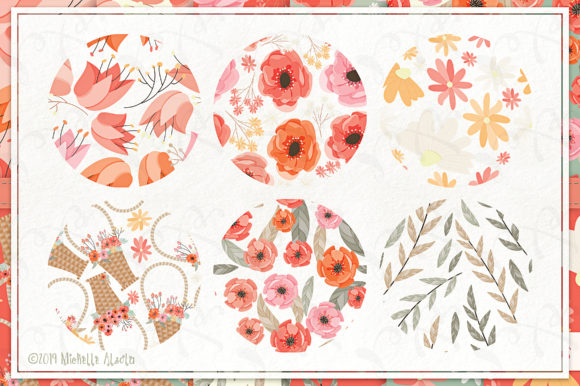 Print on Demand: Spring Love 01 - Peach & Mint - Seamless Pattern Designs and Digital Papers Graphic Patterns By Michelle Alzola - Image 2