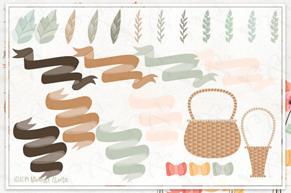 Print on Demand: Spring Love 01 - Peach and Mint Vector Clipart Graphic Illustrations By Michelle Alzola - Image 5