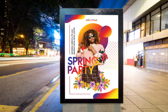 Print on Demand: Spring Party Flyer Graphic Print Templates By Home Crafter Design.co