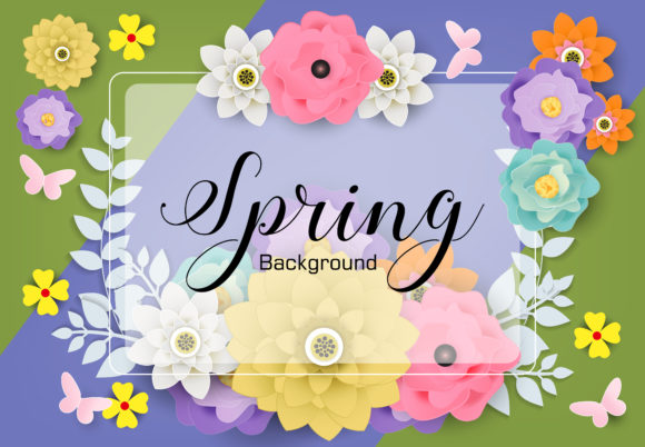 Spring Background Graphic Backgrounds By SugarV_Creative