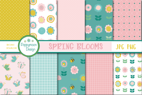 Print on Demand: Spring Blooms Paper Graphic Patterns By poppymoondesign