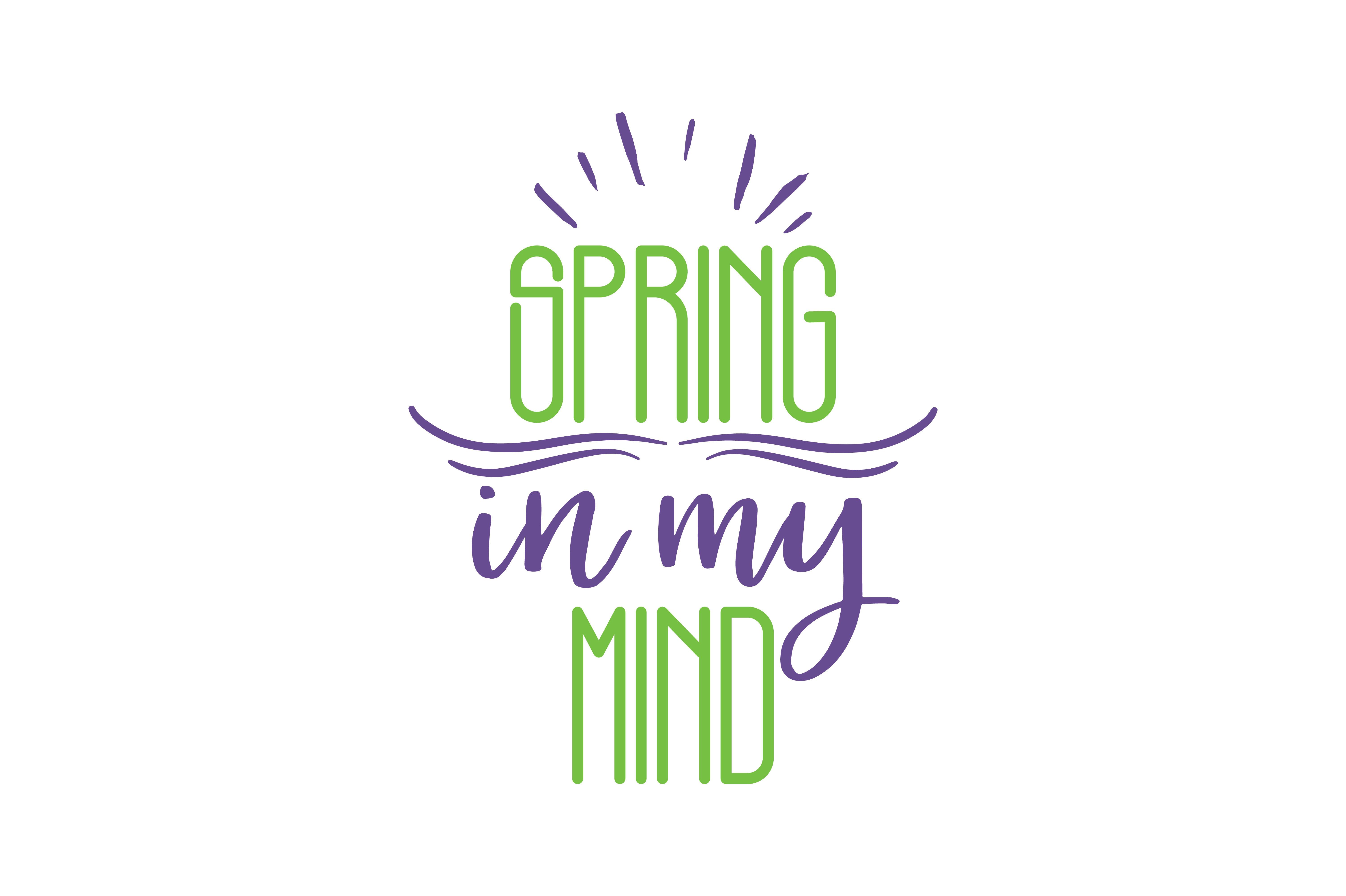 Download Free Spring In My Mind Quote Svg Cut Graphic By Thelucky Creative for Cricut Explore, Silhouette and other cutting machines.