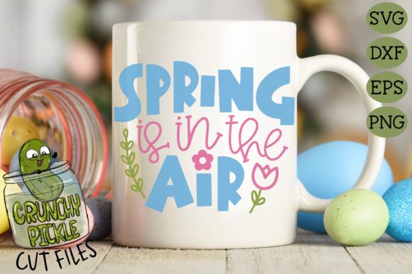 Spring is in the Air Cut File with Floral Elements Graphic Crafts By Crunchy Pickle - Image 3