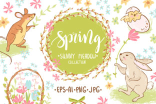 Spring Meadow Graphic Set Graphic By dinkoobraz