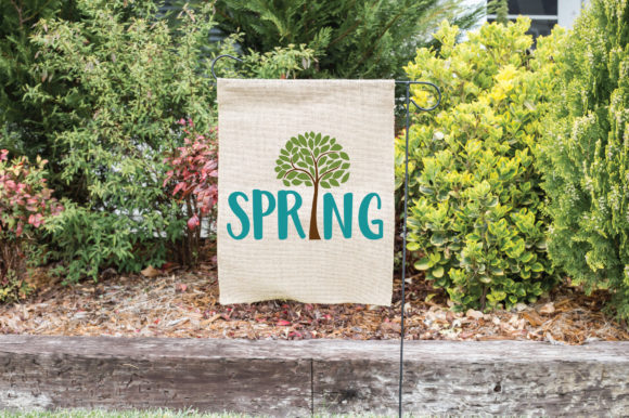 Spring with Tree SVG Cut File Spring SVG Graphic By oldmarketdesigns Image 2