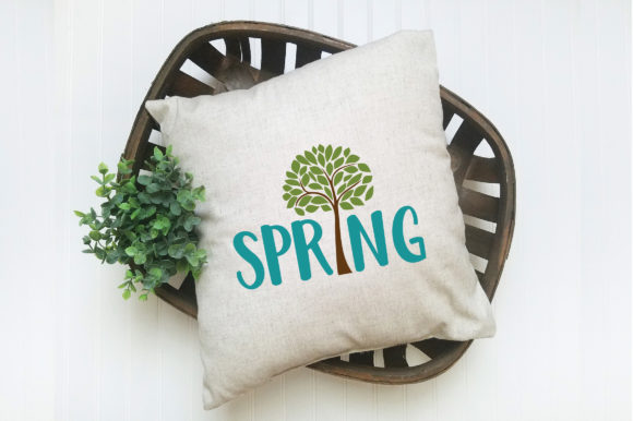 Spring with Tree SVG Cut File Spring SVG Graphic By oldmarketdesigns Image 6
