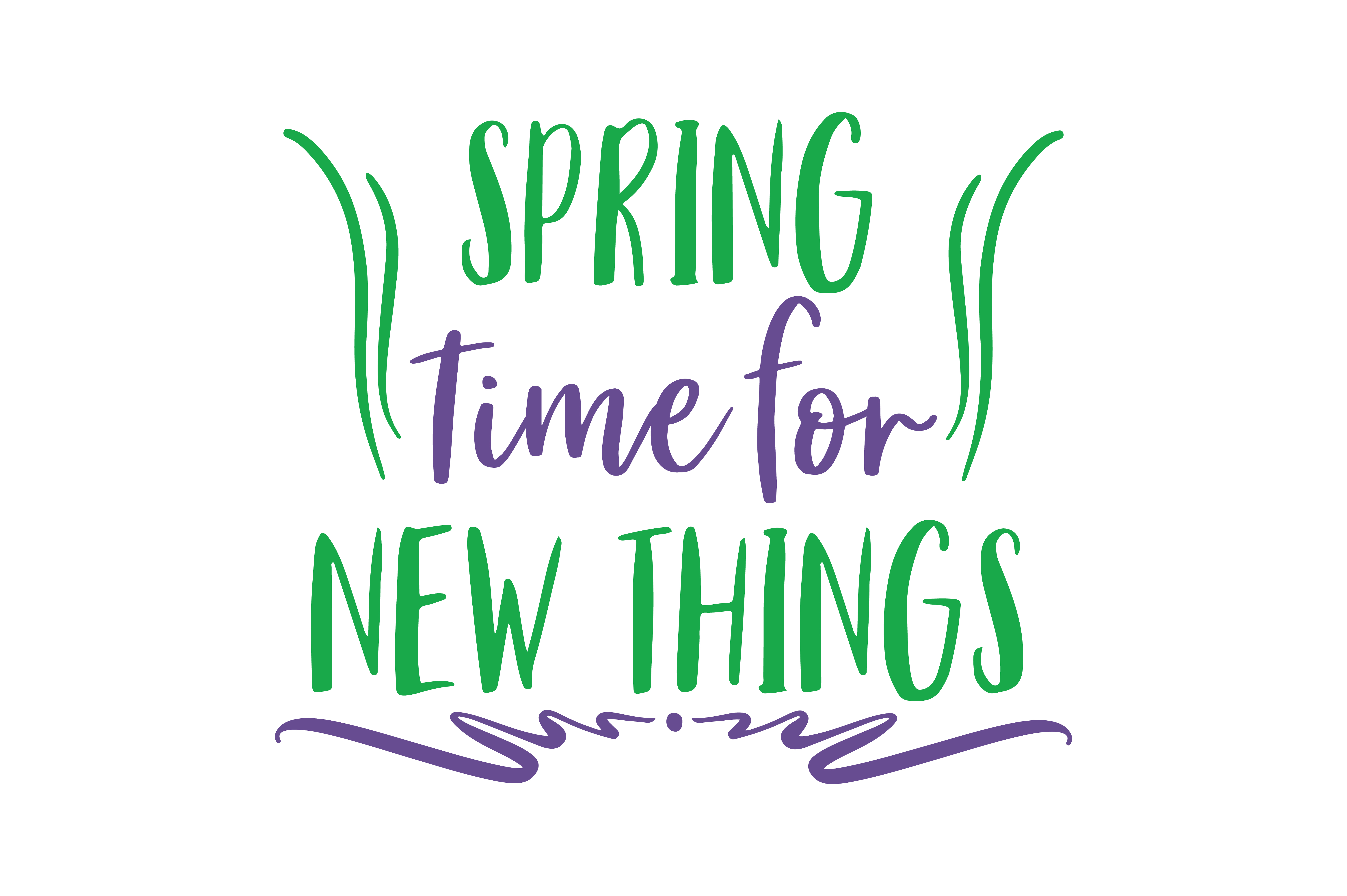 Download Free Spring Time For New Things Quote Svg Cut Graphic By Thelucky for Cricut Explore, Silhouette and other cutting machines.
