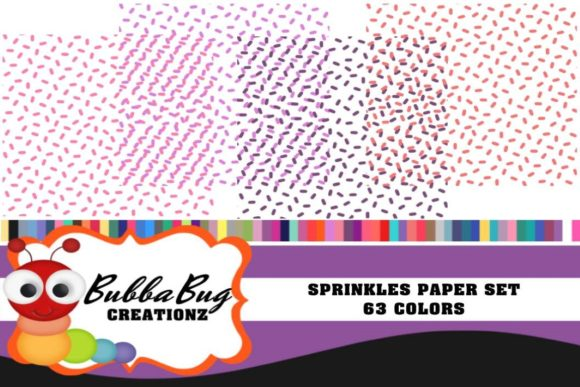 Sprinkles Paper Set Graphic Patterns By BUBBABUG