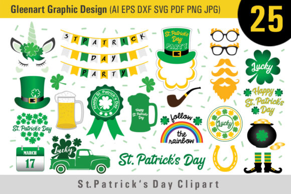 St Patrick's Day Clipart Bundle Graphic Illustrations By Gleenart Graphic Design