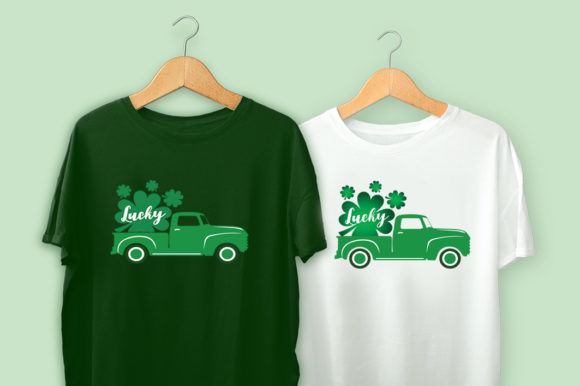 St Patrick's Day Truck Graphic Illustrations By Gleenart Graphic Design - Image 2
