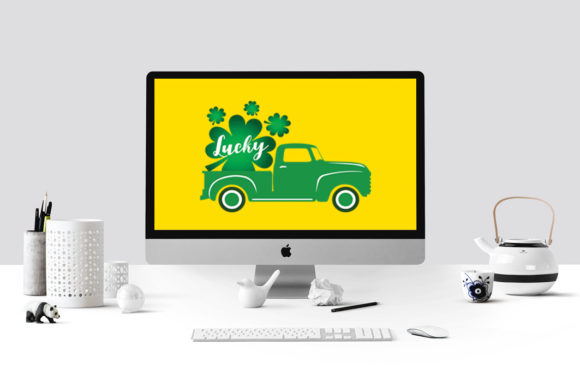 St Patrick's Day Truck Graphic Illustrations By Gleenart Graphic Design - Image 3