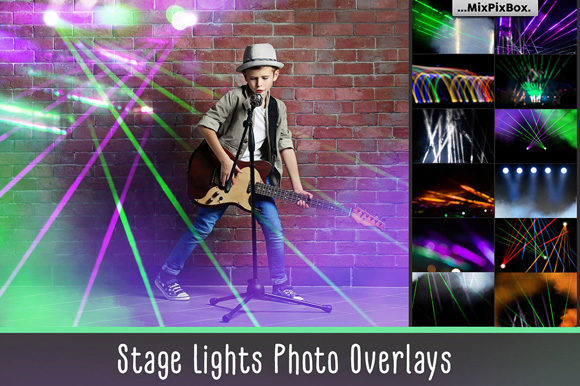 Print on Demand: Stage Lights Overlays Graphic Layer Styles By MixPixBox