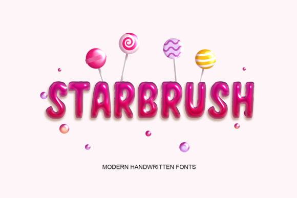 Print on Demand: Starbrush Display Font By scoothtype