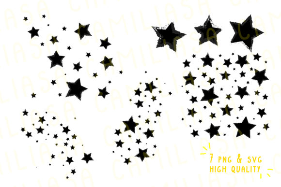 Print on Demand: Stars Moon Phase Graphic Icons By Inkclouddesign - Image 2