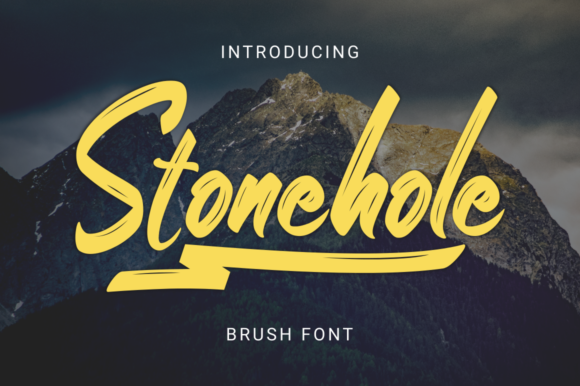 Print on Demand: Stonehole Script & Handwritten Font By kammaqsum - Image 1