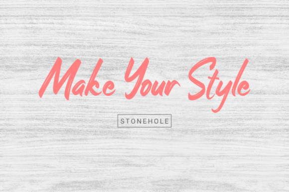 Print on Demand: Stonehole Script & Handwritten Font By kammaqsum - Image 7