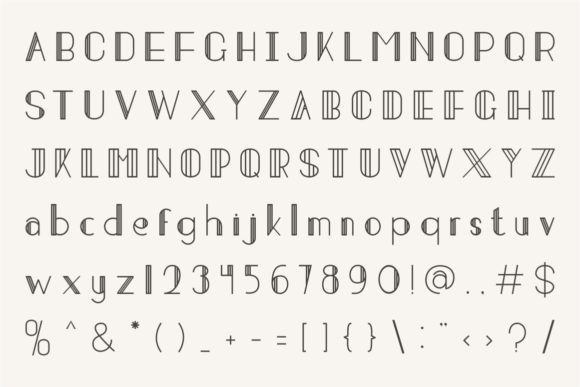 Print on Demand: Strip Deco Display Font By putracetol - Image 6
