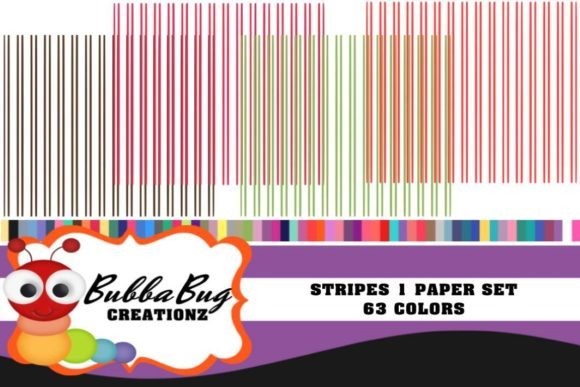 Stripes 1 Paper Set Graphic Patterns By BUBBABUG