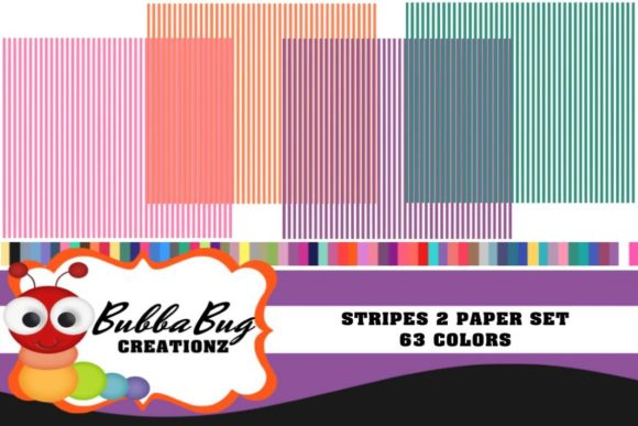 Stripes 2 Paper Set Graphic Patterns By BUBBABUG