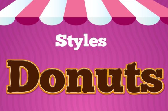 Style Donuts Add-ons Illustrator Graphic Actions & Presets By rogeriolmarcos