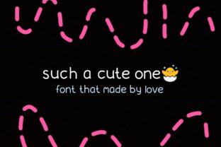 Such a Cute One Font By kikydwiagustina