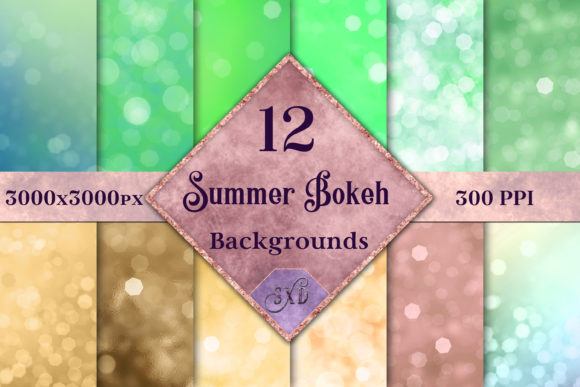 Print on Demand: Summer Bokeh Backgrounds Graphic Backgrounds By SapphireXDesigns