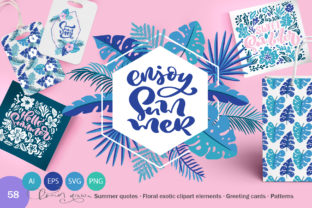 Download Free Summer Exotic Palm Bundle Graphic By Happy Letters Creative for Cricut Explore, Silhouette and other cutting machines.