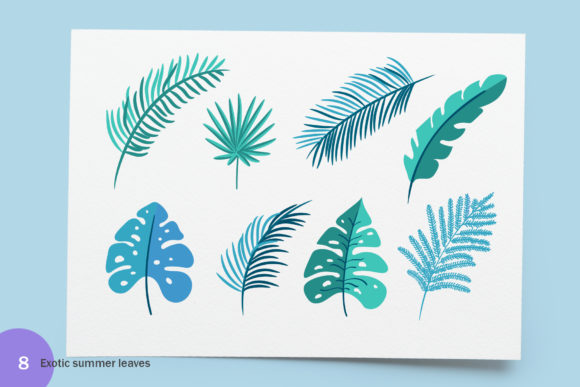 Summer Exotic Palm Bundle Graphic By Happy Letters Image 6