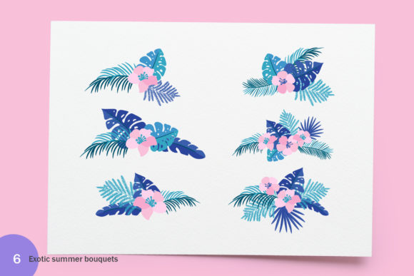 Summer Exotic Palm Bundle Graphic By Happy Letters Image 7
