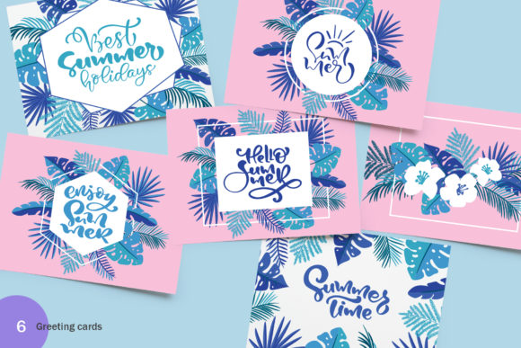 Summer Exotic Palm Bundle Graphic By Happy Letters Image 8