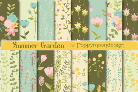 Print on Demand: Summer Garden Paper Graphic Patterns By poppymoondesign