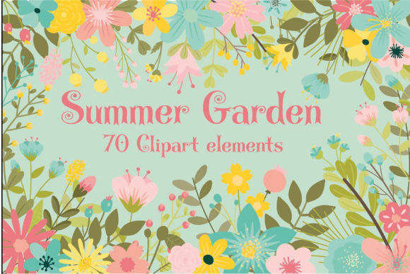 Print on Demand: Summer Garden Graphic Illustrations By poppymoondesign