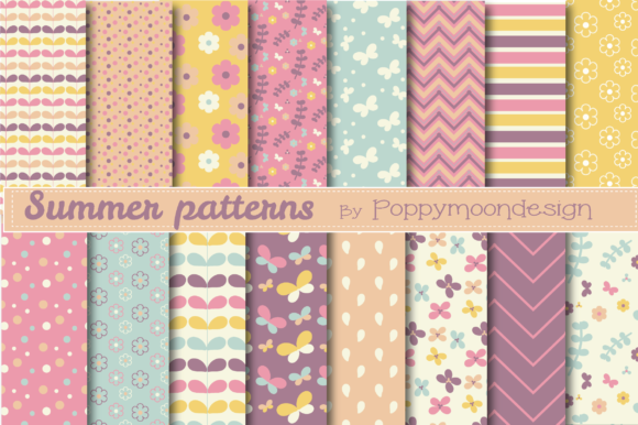 Print on Demand: Summer Patterns Graphic Patterns By poppymoondesign