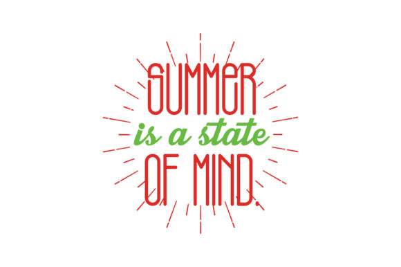 Download Free Summer Is A State Of Mind Quote Svg Cut Graphic By Thelucky for Cricut Explore, Silhouette and other cutting machines.
