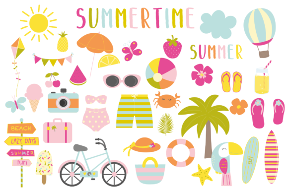Print on Demand: Summer Time Graphic Illustrations By poppymoondesign