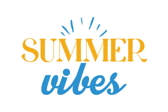 Download Free Summer Vibes Quote Svg Cut Graphic By Thelucky Creative Fabrica for Cricut Explore, Silhouette and other cutting machines.