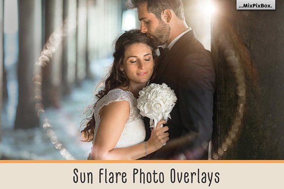 Print on Demand: Sun Flare Photo Overlays Graphic Layer Styles By MixPixBox